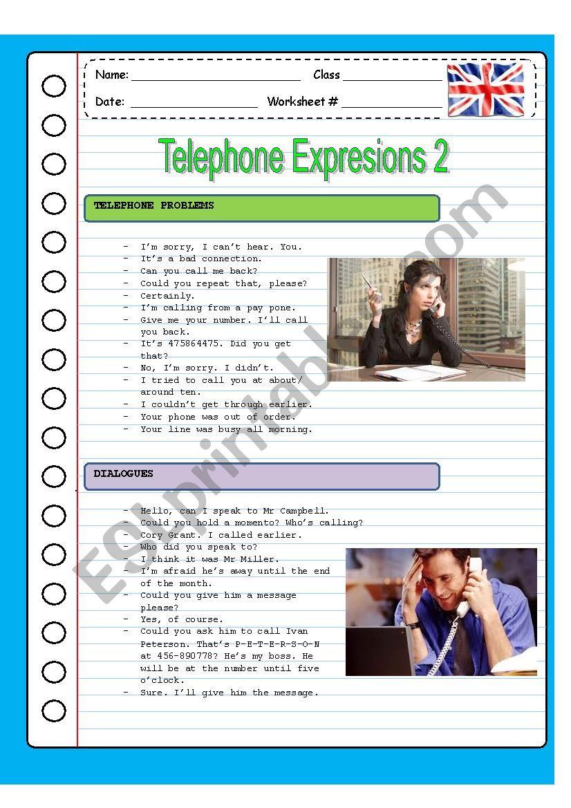 TELEPHONING 2 worksheet