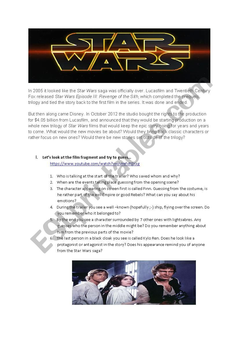 CONDITIONALS 0, 1, 2 WITH STAR WARS: THE FORCE AWAKENS TRAILER