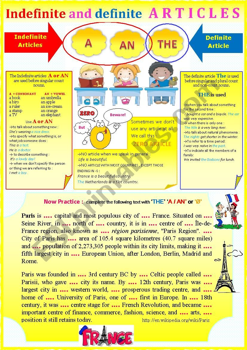 Gr - Indefinite and definite articles + exercises. + KEY