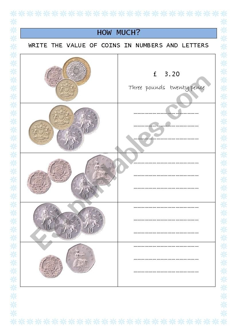 british coins worksheet