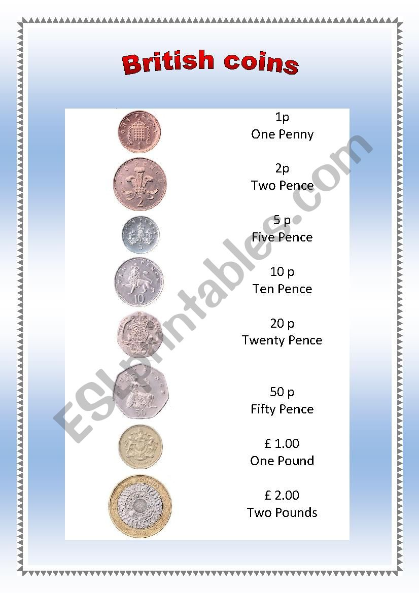 british coins 1 worksheet