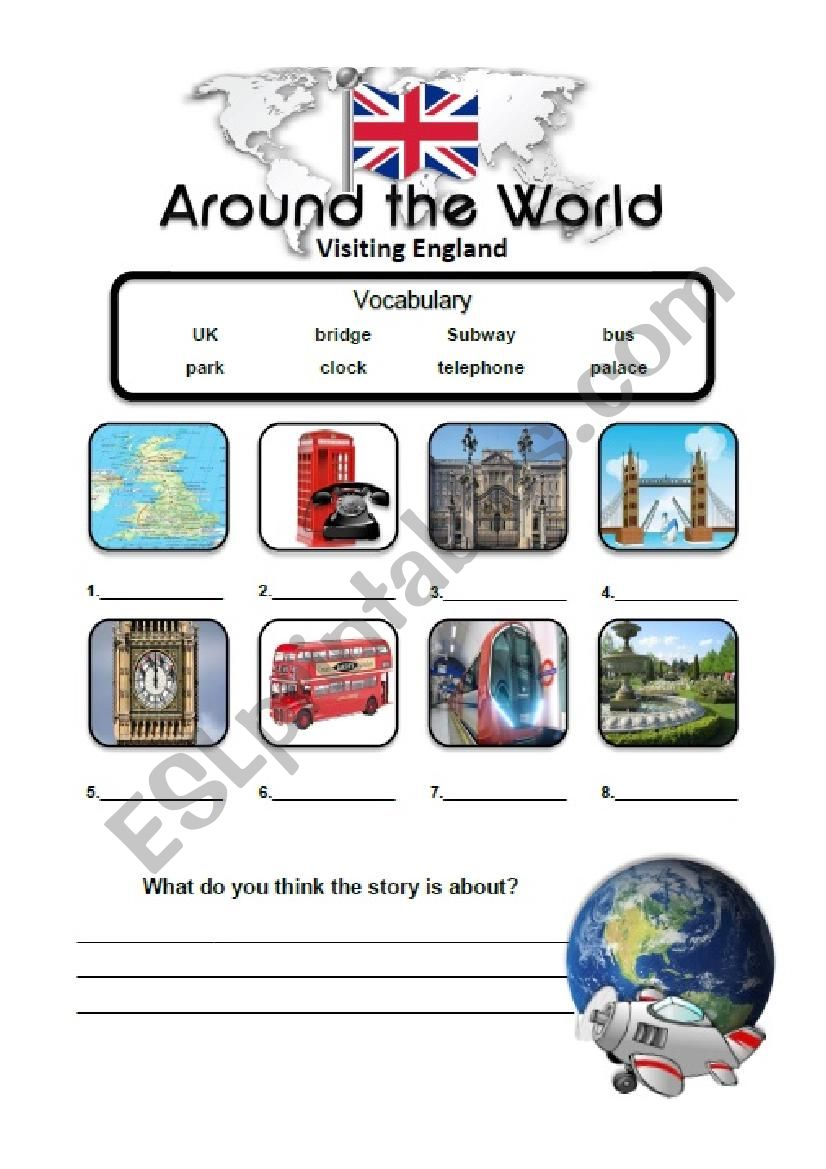 London Travel Story Lesson worksheet