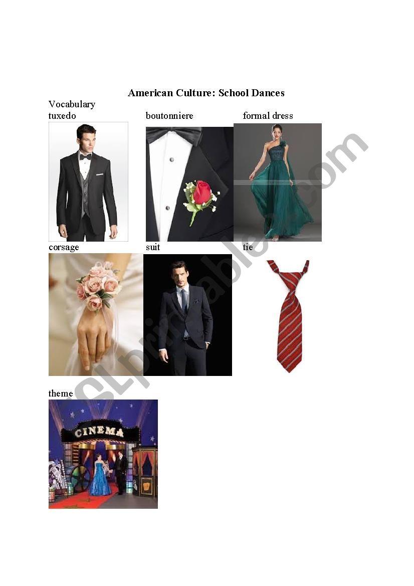American Culture: School Dances