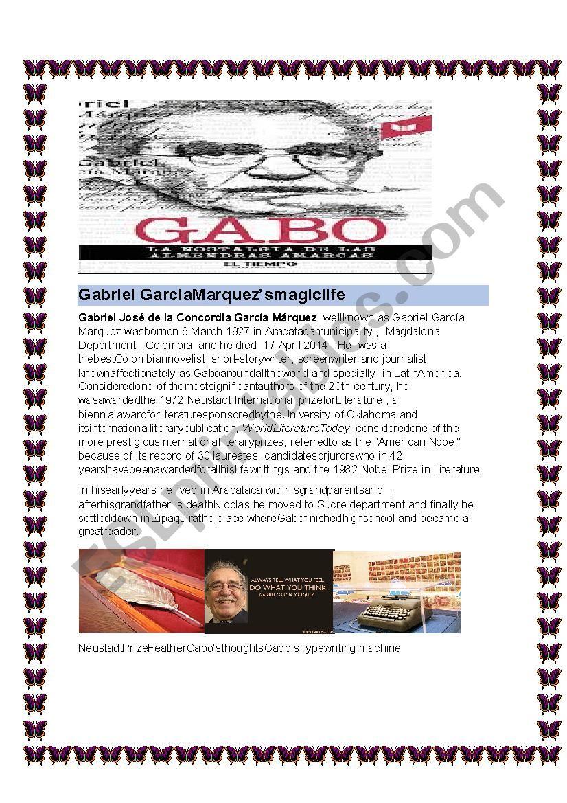 Gabriel Garcia marquez´s Magic life