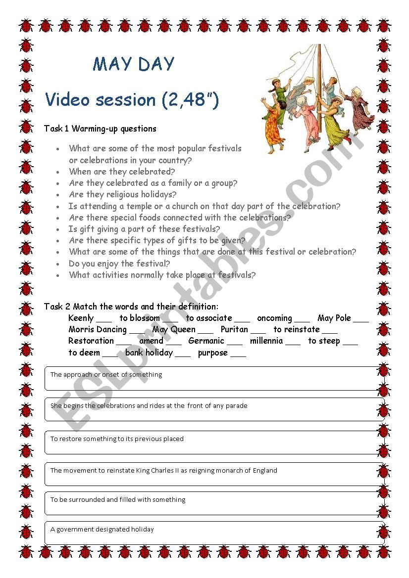 MAY DAY - Video Session worksheet