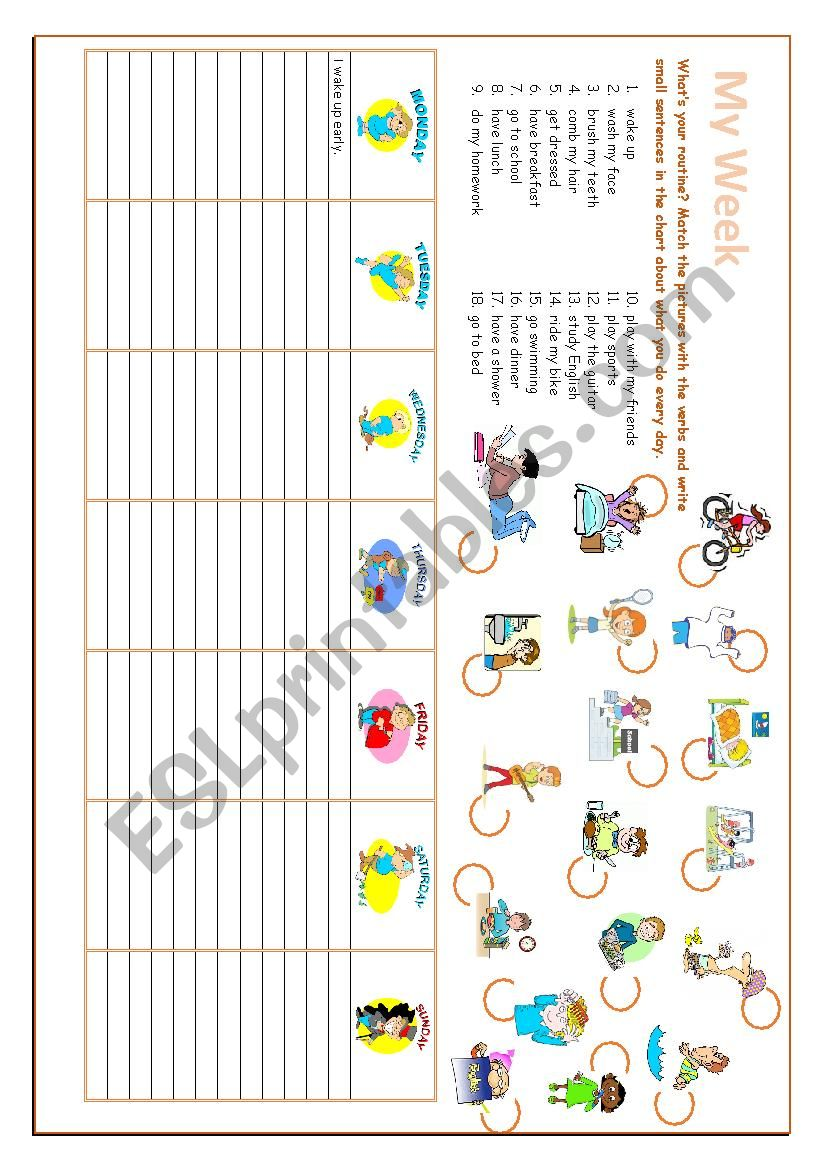 My week worksheet