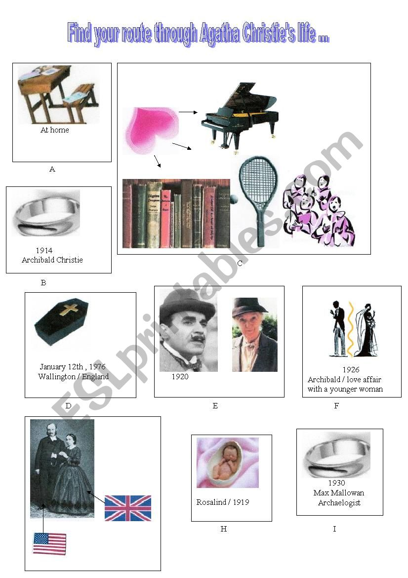 Telling about Agatha Christie´s life