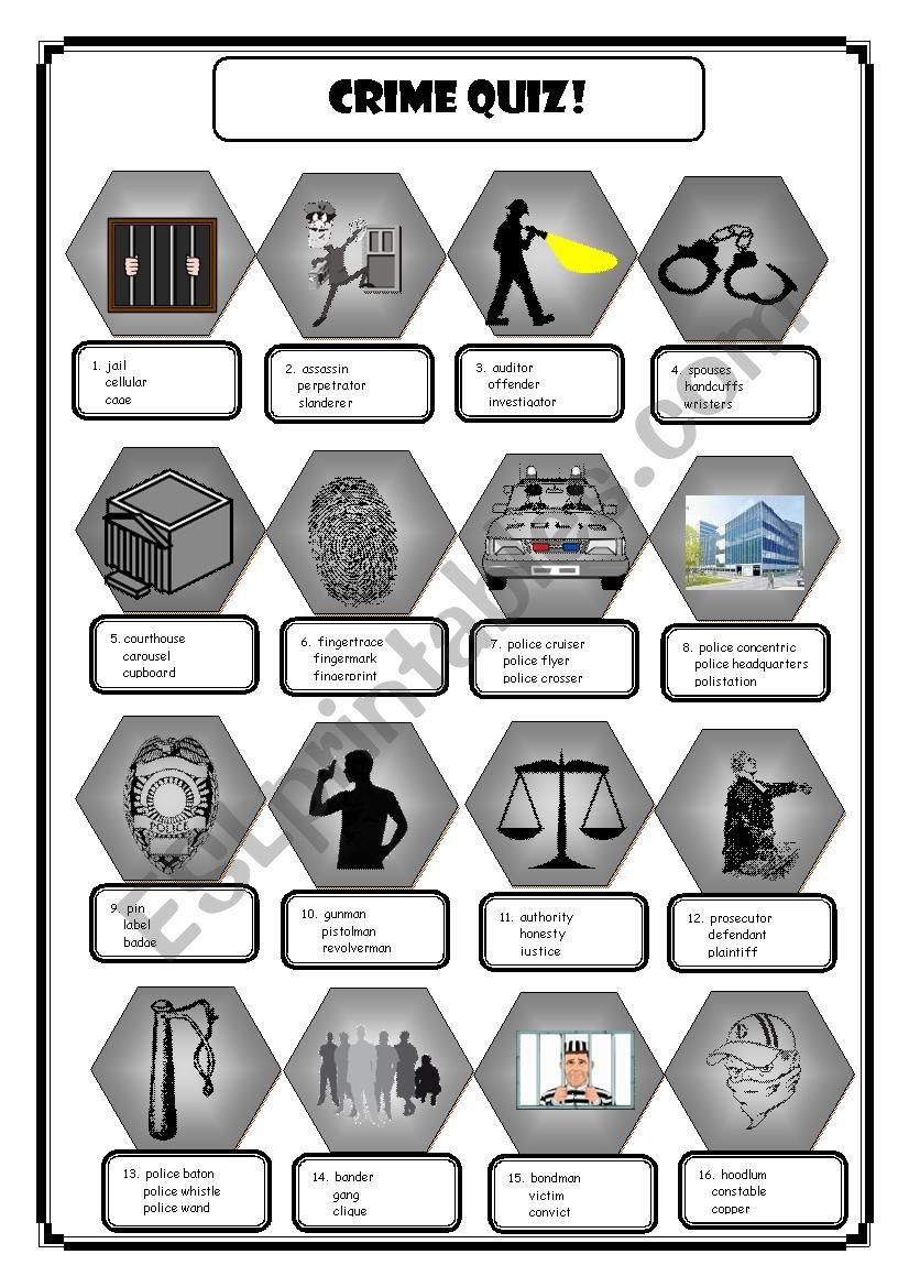 Crime Quiz worksheet
