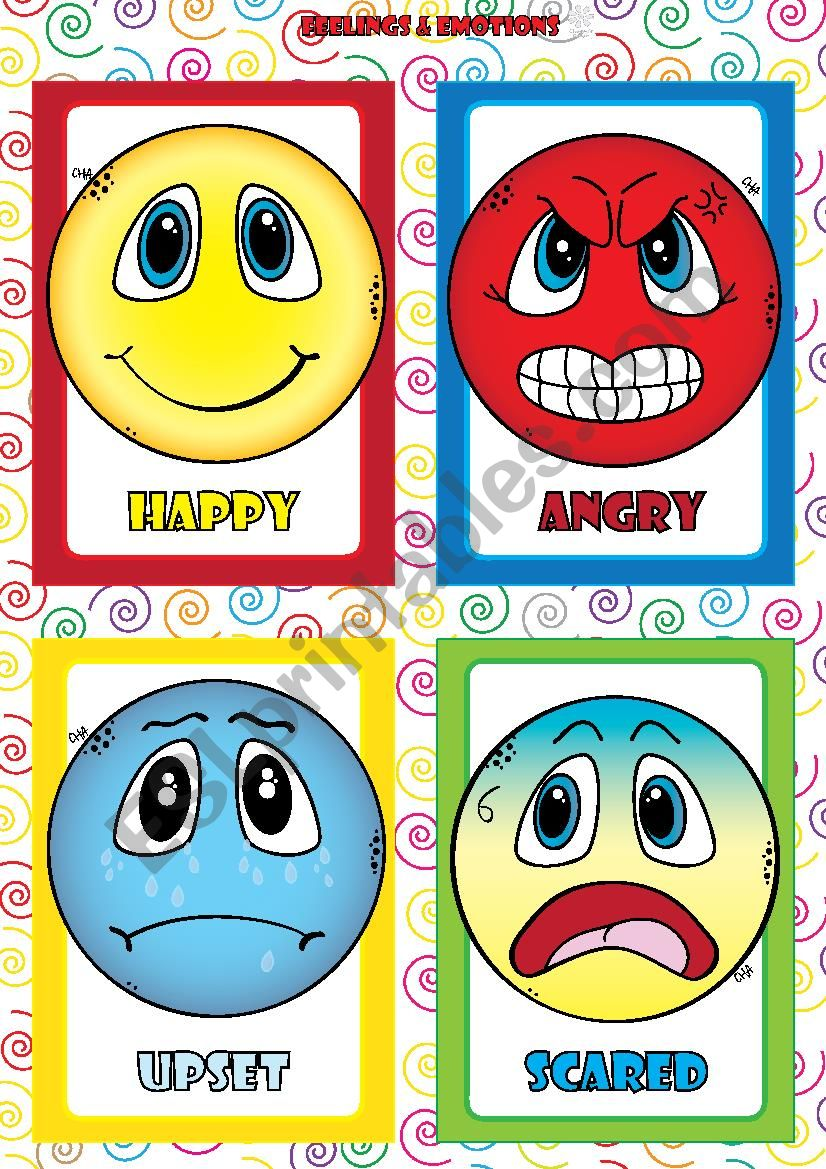 Feelings and Emotions - FLASHCARDS (1-4)