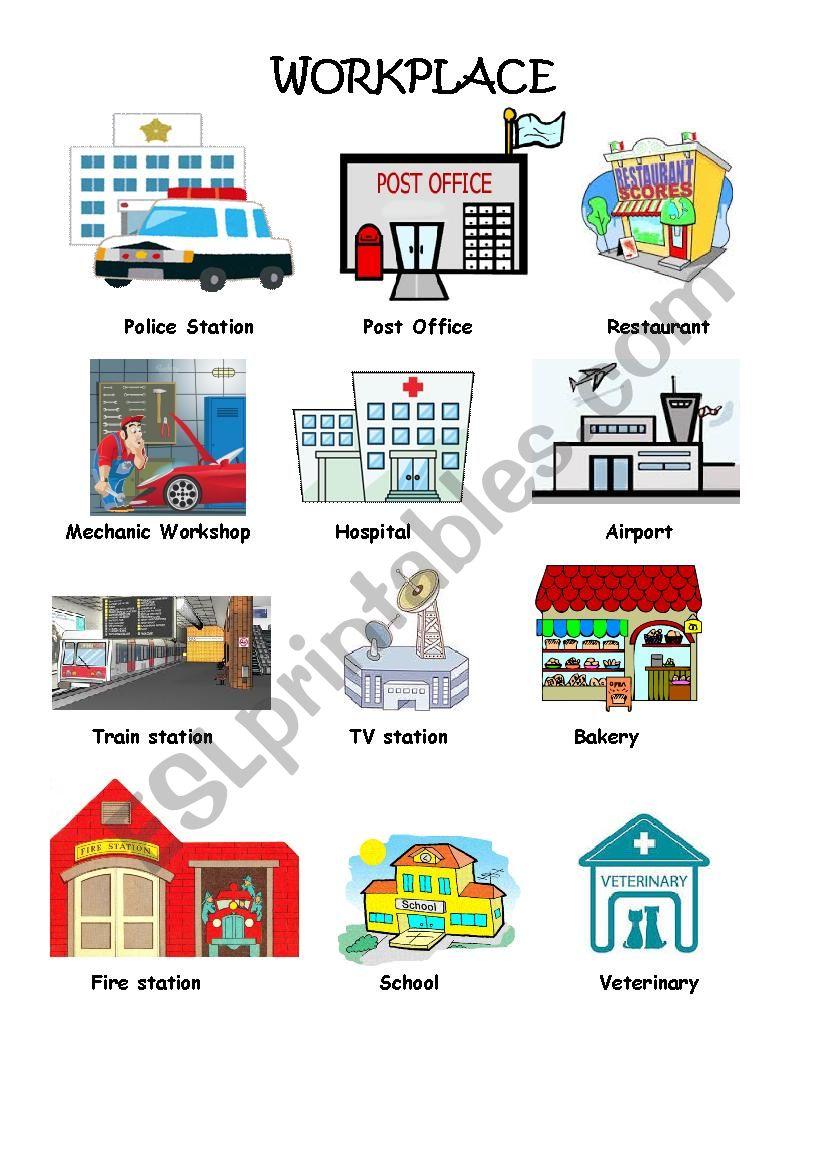 workplace pictionary esl worksheet by vivivivie. Black Bedroom Furniture Sets. Home Design Ideas