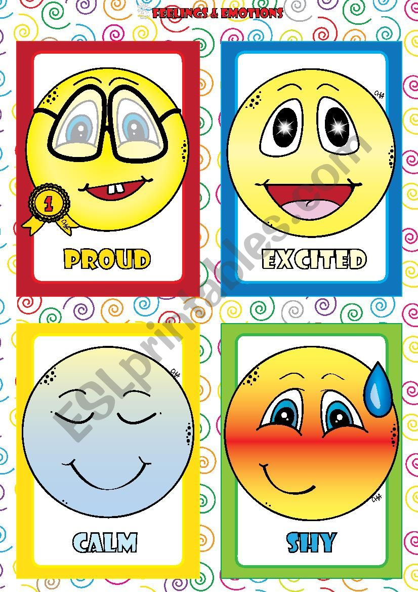Feelings and Emotions - FLASHCARDS (4-4)