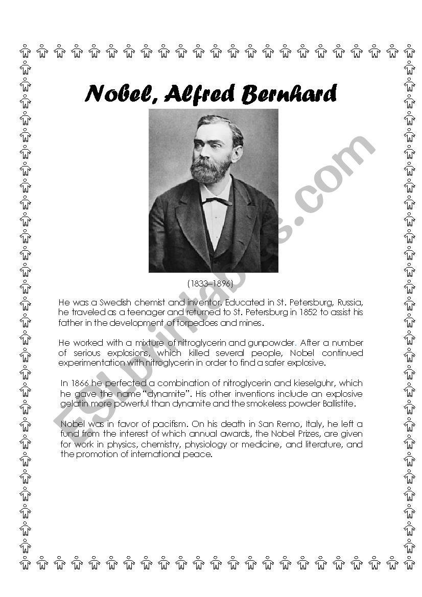 famous scientists biographies - ESL worksheet by Vero Escobar