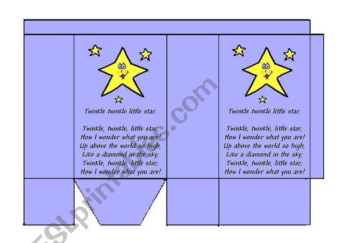 Twinkle Twinkle Little Star worksheet