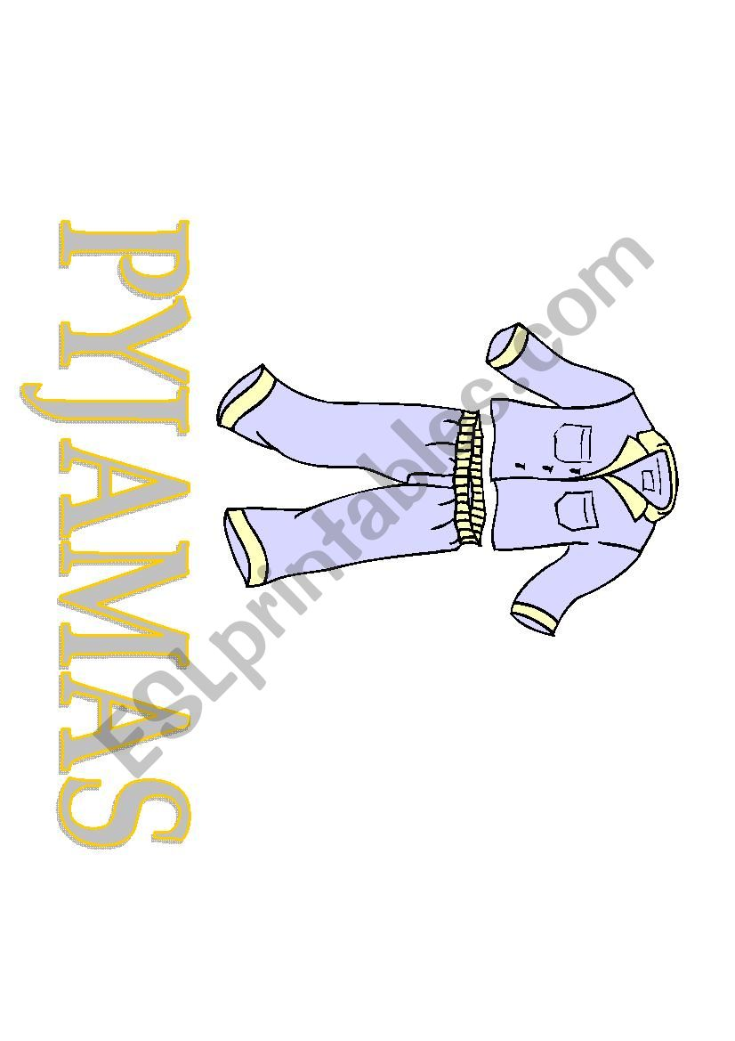 Clothes FLASHCARDS 3 worksheet