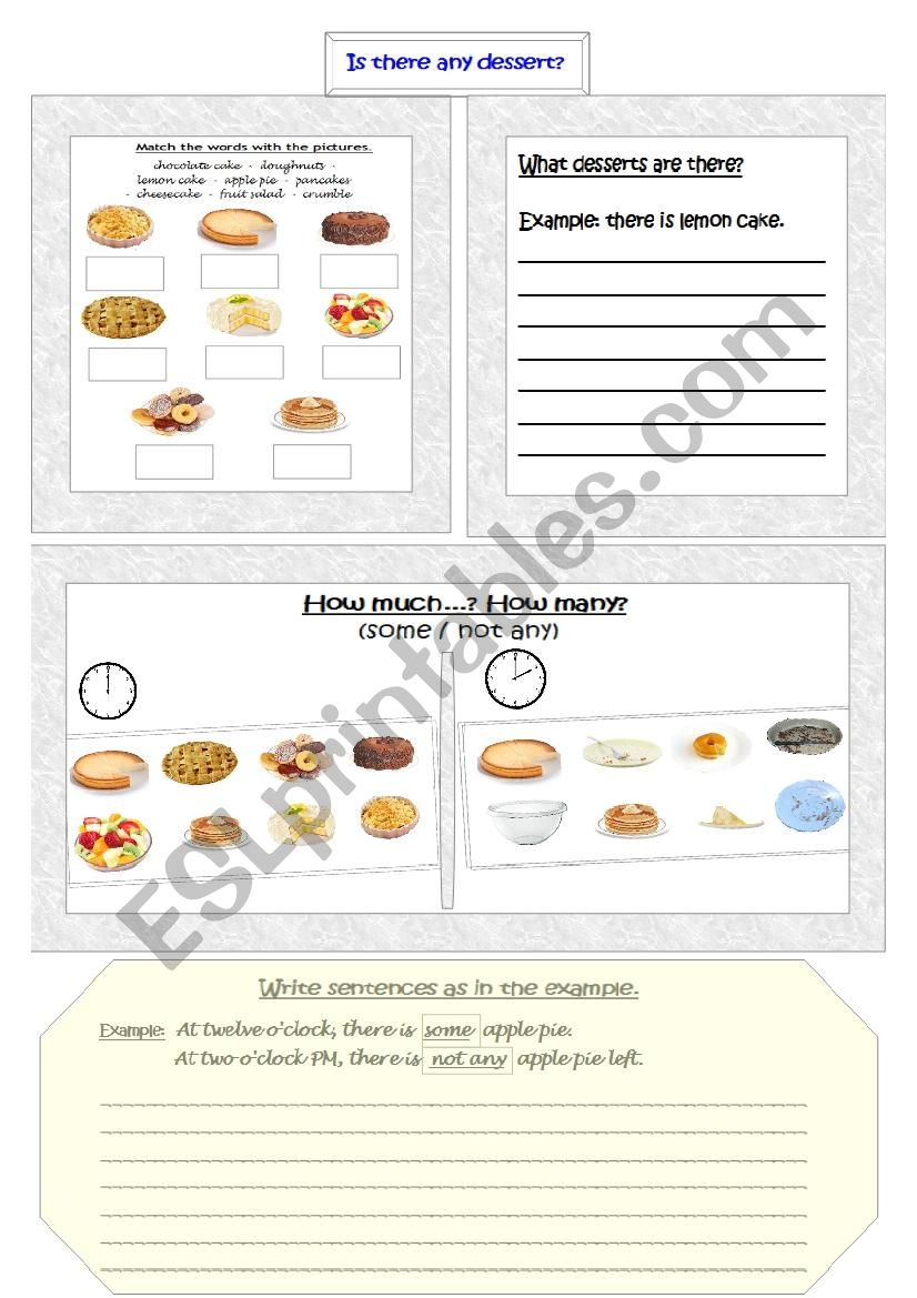 Is there any dessert? worksheet