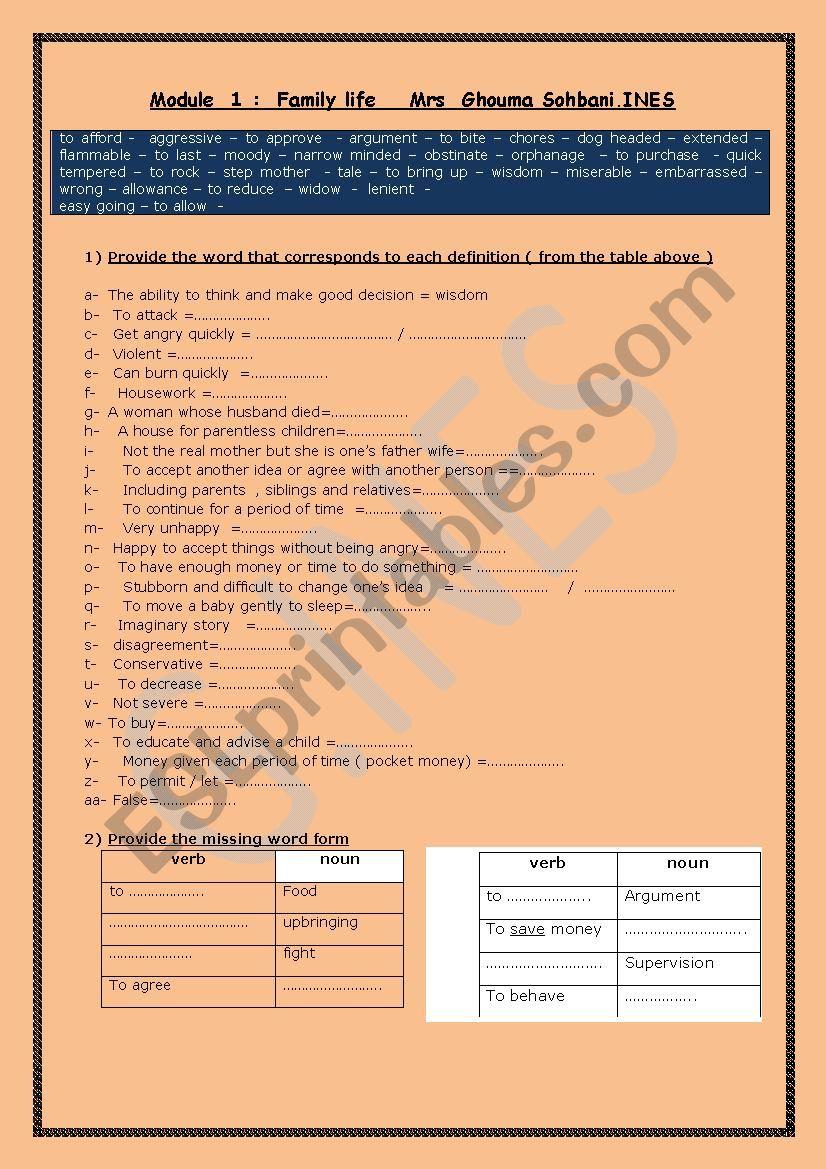 9th diploma revision worksheet
