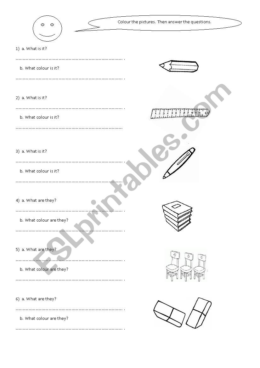 What is it? What are they? - ESL worksheet by laya0404