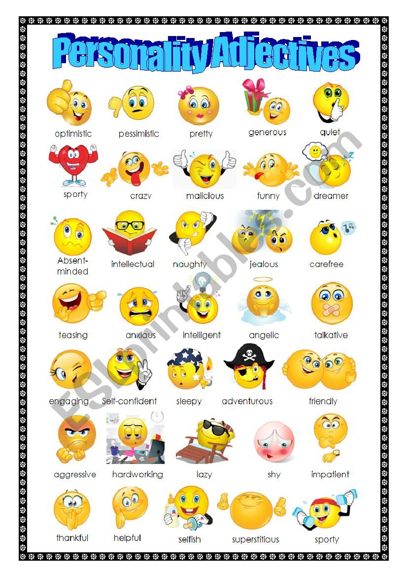 Adjectives: Personality worksheet