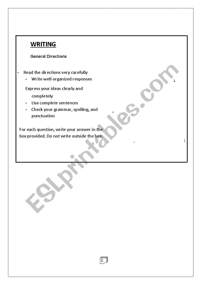 Writing Compositions Esl Worksheet By Adola