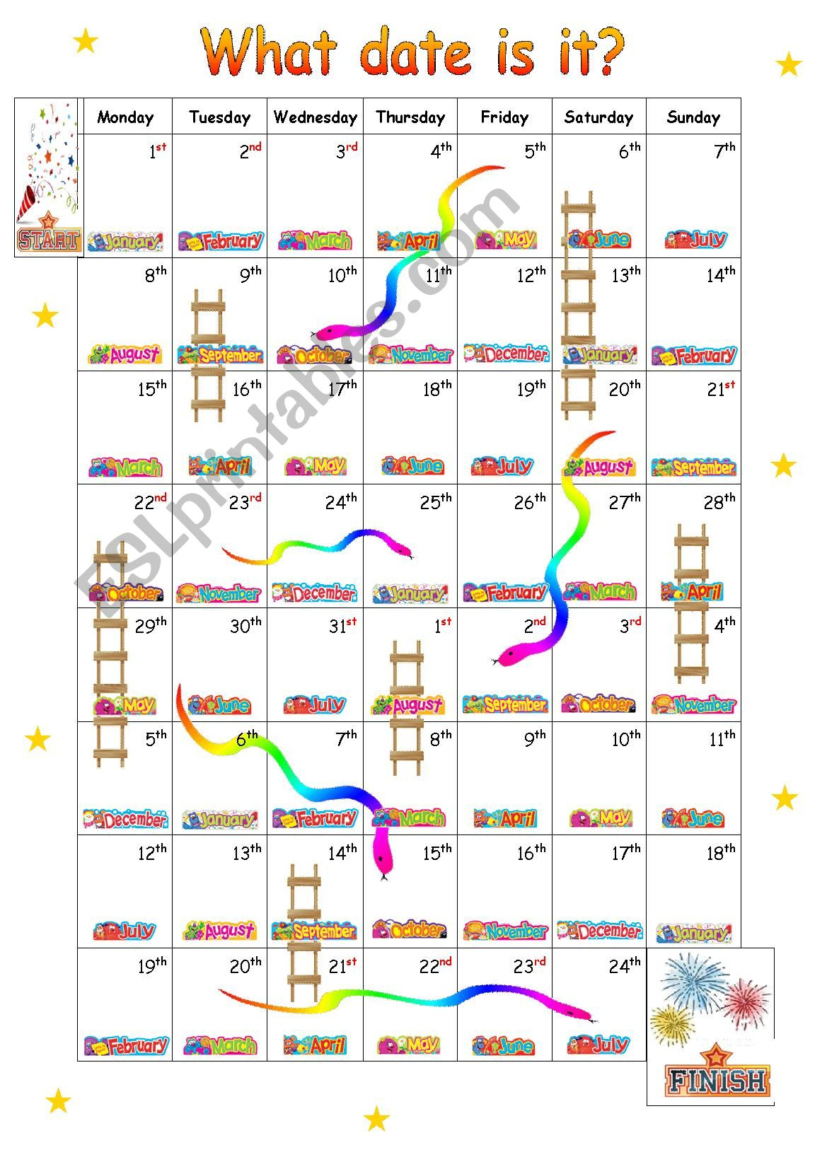 What date is it?  Snakes and Ladders
