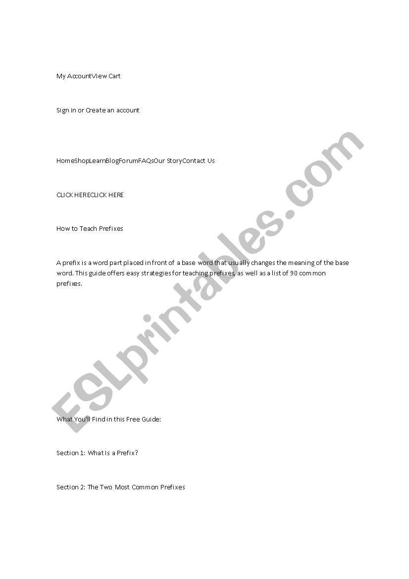 material worksheet