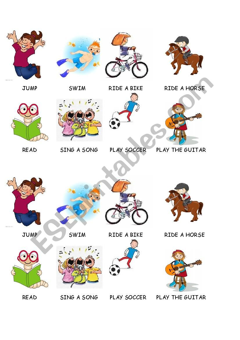 Basic verbs for use can and can´t