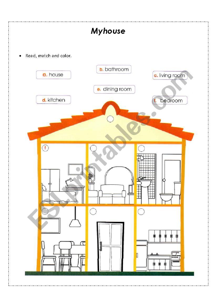My Home Esl Worksheet By Dianitacocuy