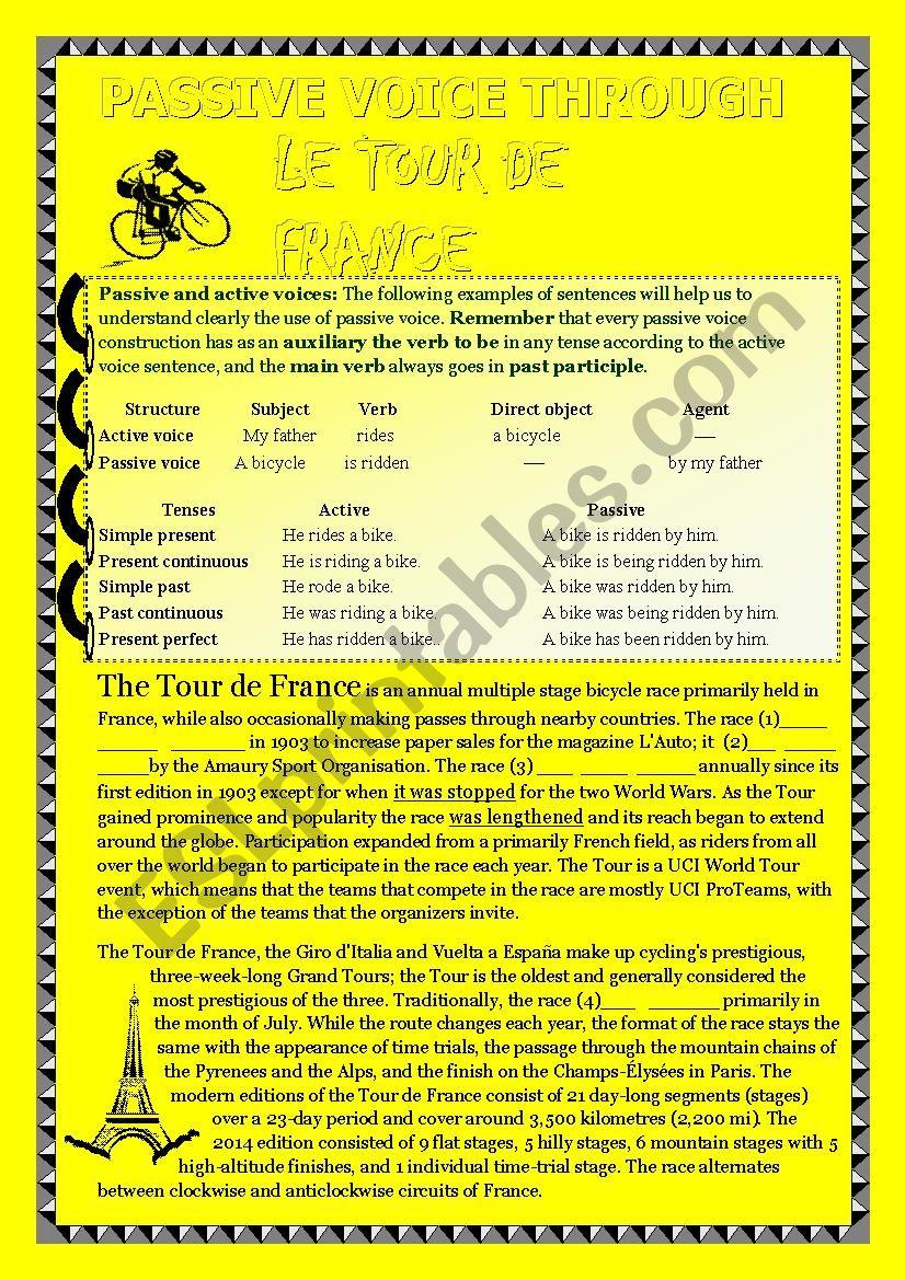 Passive voice and reading comprehension through the Tour de France