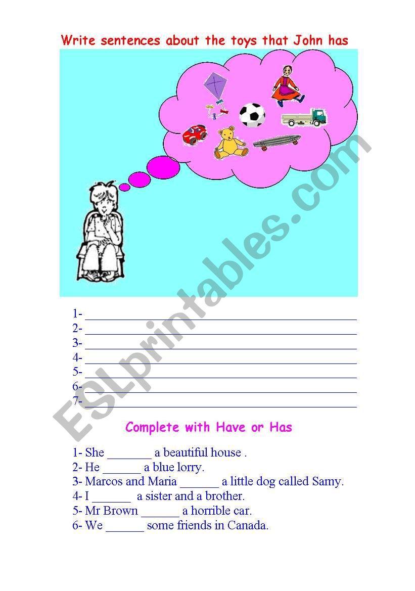 have has worksheet