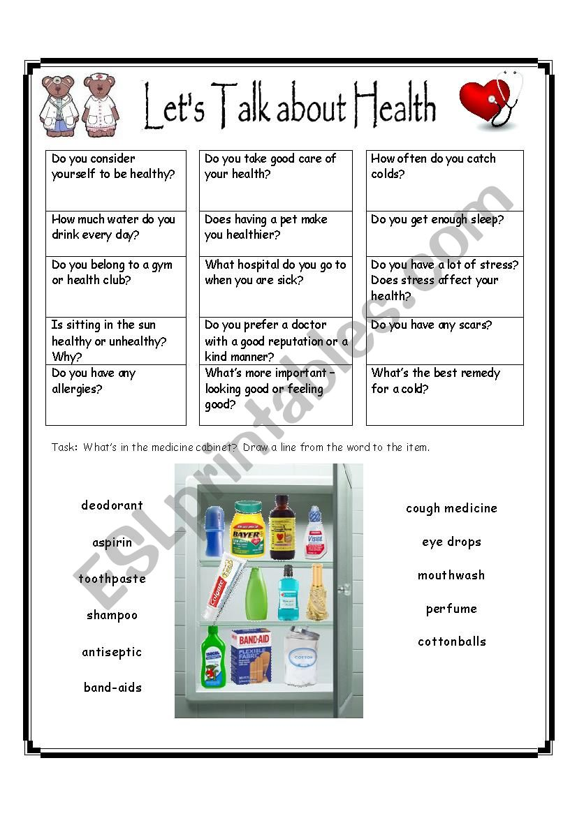 Let´s Talk about Health worksheet