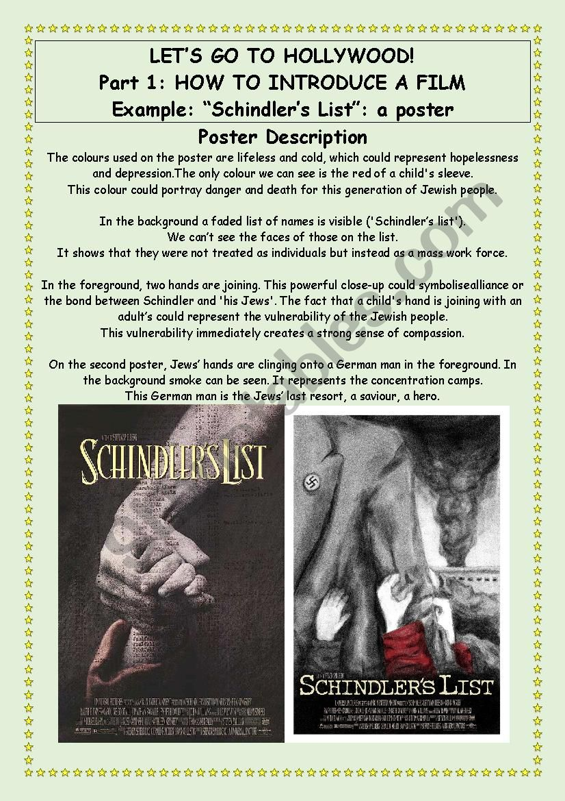 Let´s Go To Hollywood - Part 1 - Schindler´s List - poster