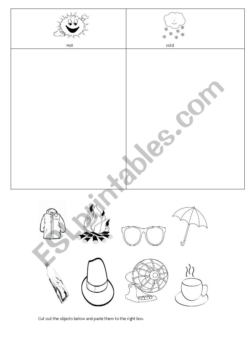 830583_1-weather_cut_and_paste Temperature Worksheets Cut And Paste on farm animals, shape matching, fall color, for kids, body parts,