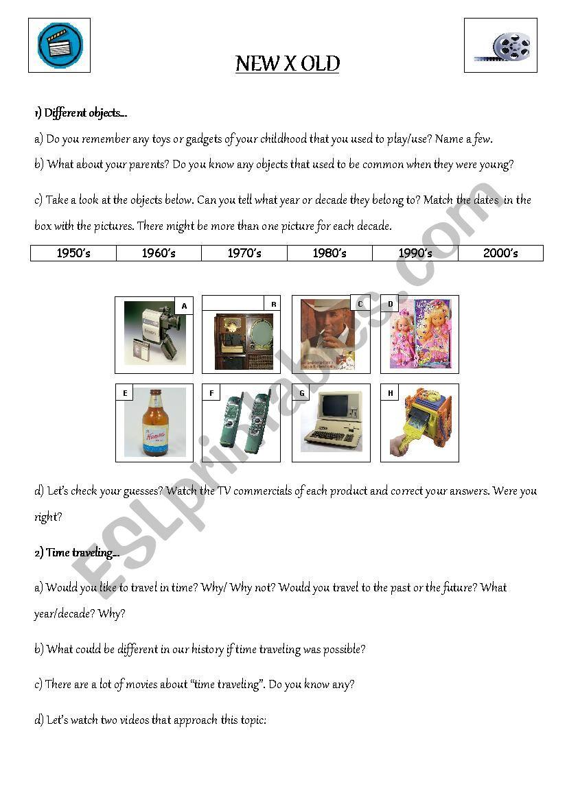 New x Old - ESL worksheet by Karencribeiro