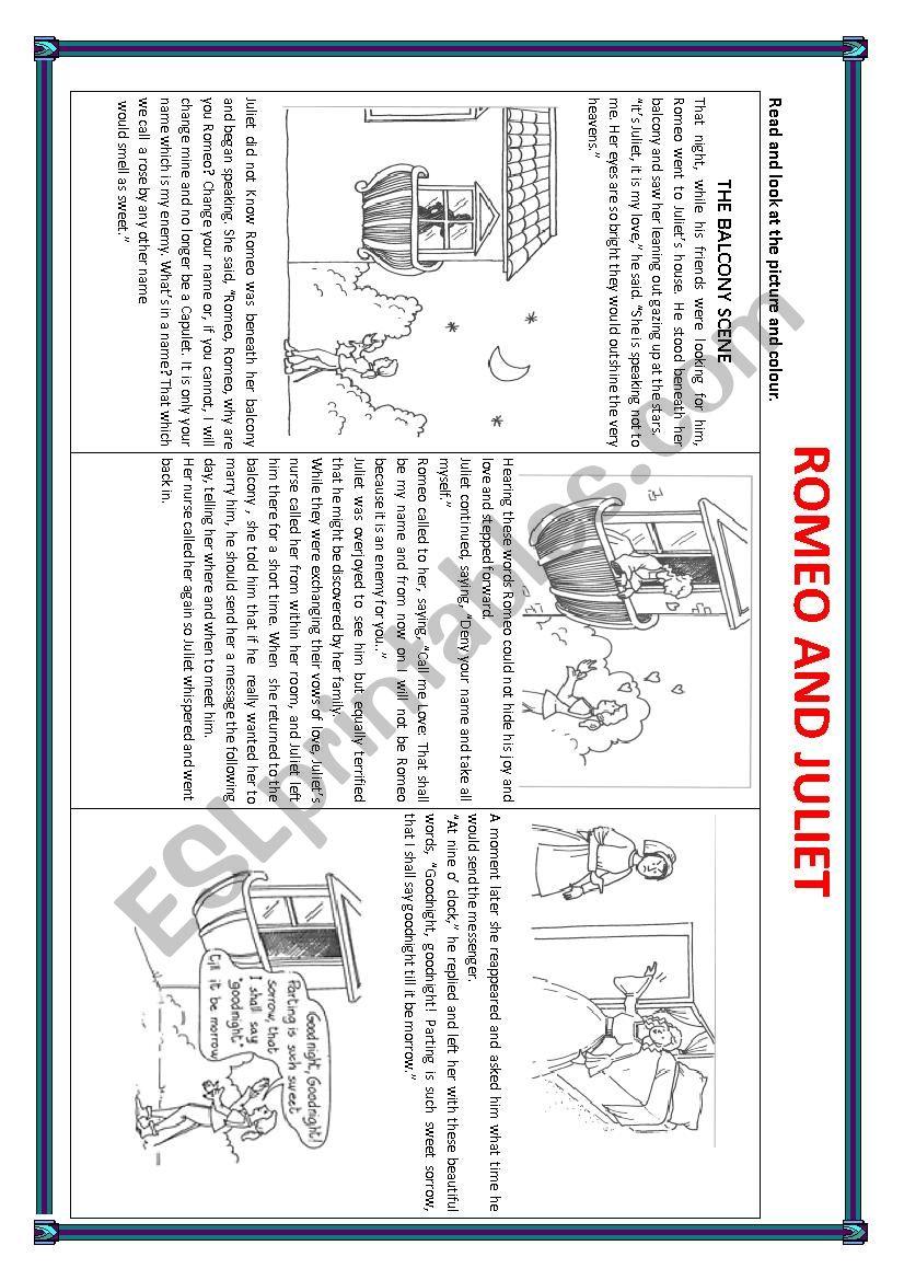 Romeo and Juliet worksheet