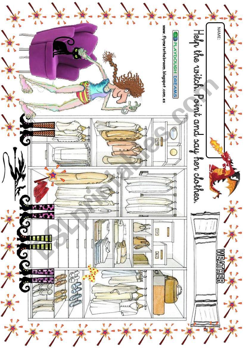 Witch´s Wardrobe 1 worksheet
