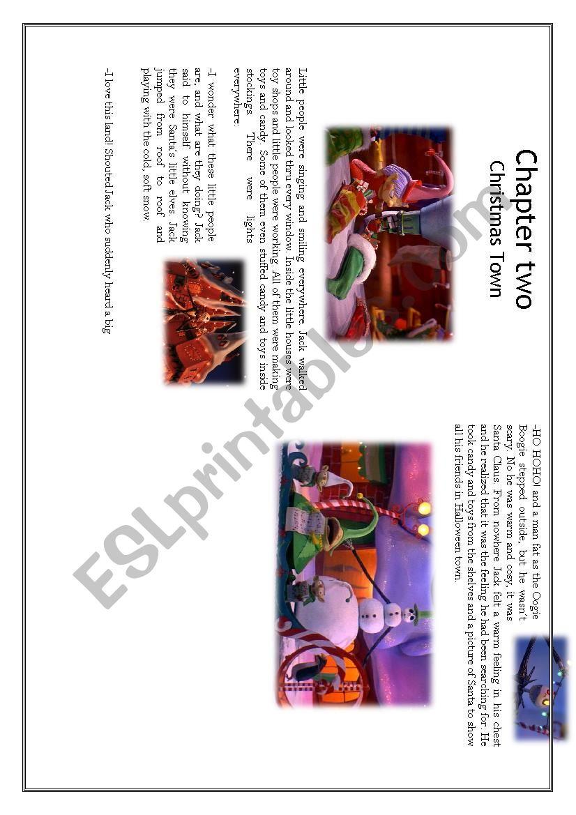 Nightmare Before Christmas chapter 2-3 - ESL worksheet by Emma ...