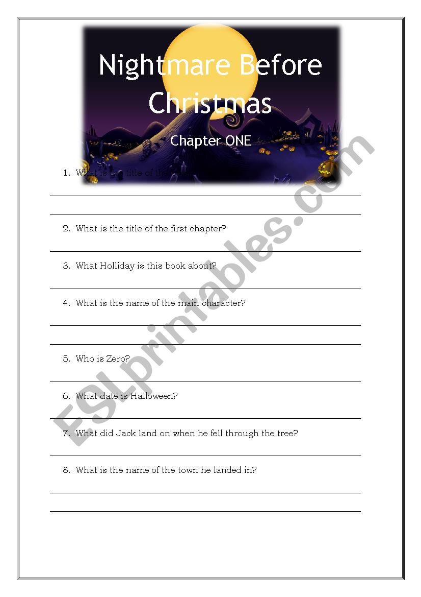 NBC-chapter 1 questions - ESL worksheet by Emma Pennerborn