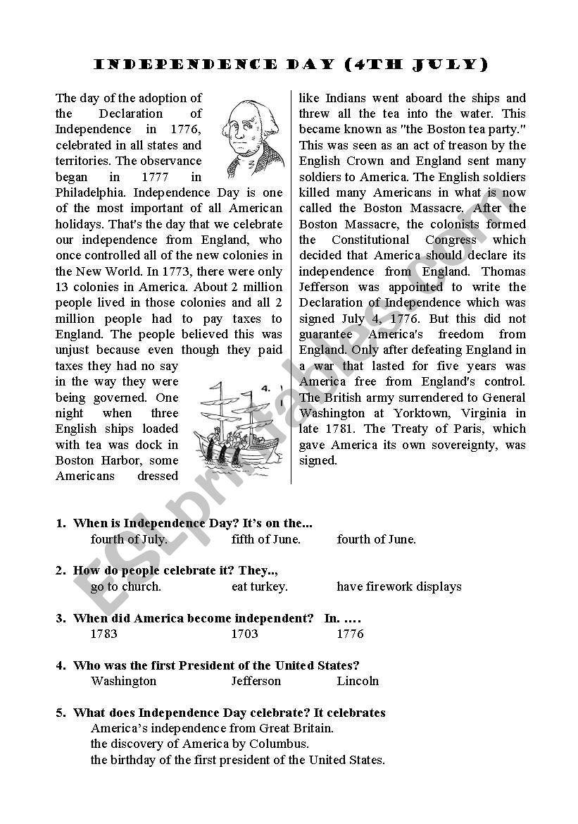 worksheet 4th Of July Worksheets english worksheets independence day worksheet worksheet