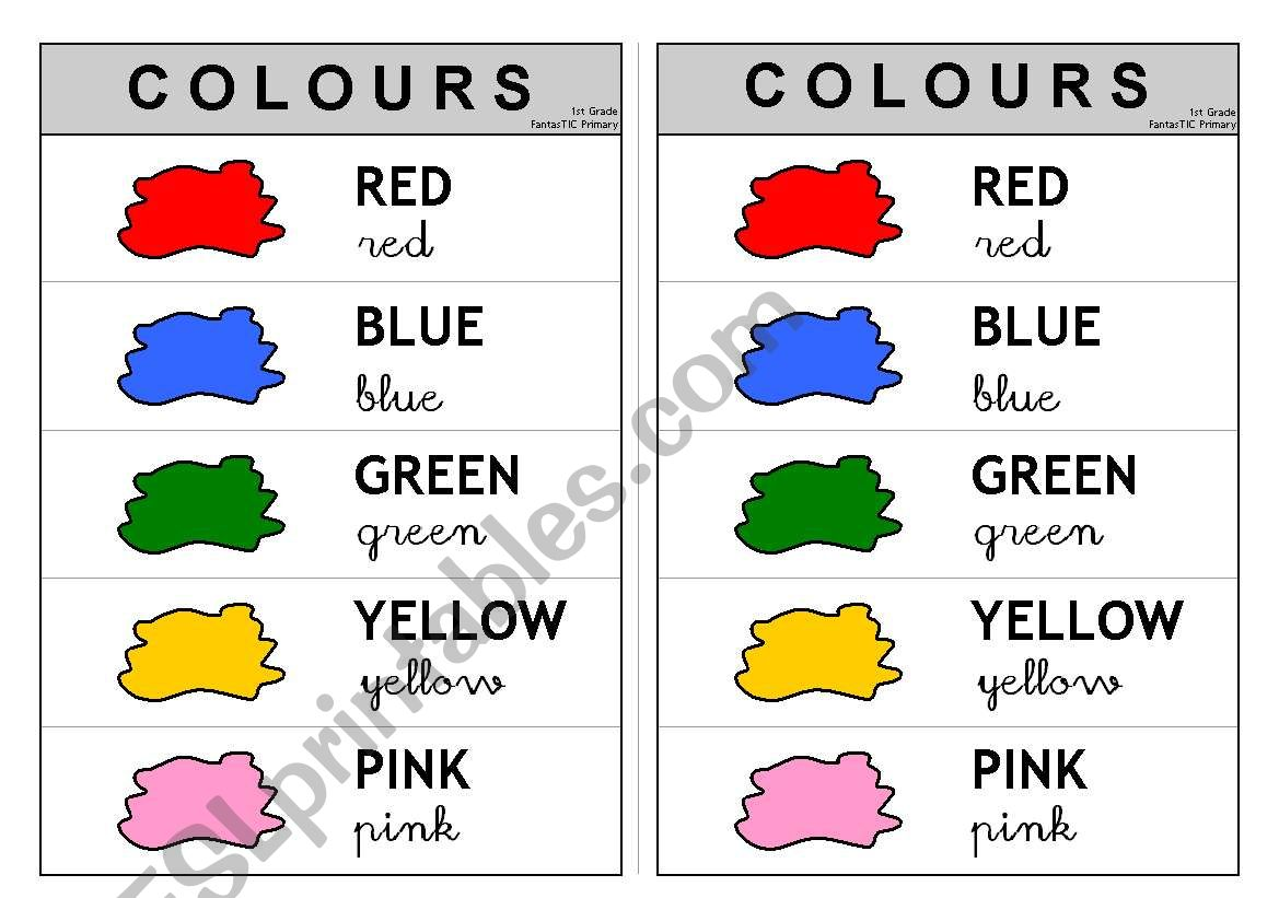 5 First Colours 1/2 - Information