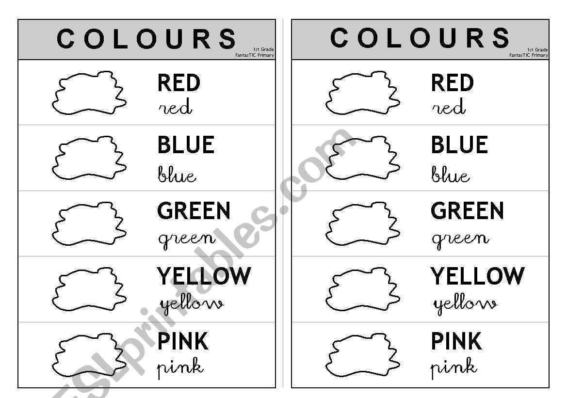 5 First Colours 1/2 (colouring) - Information