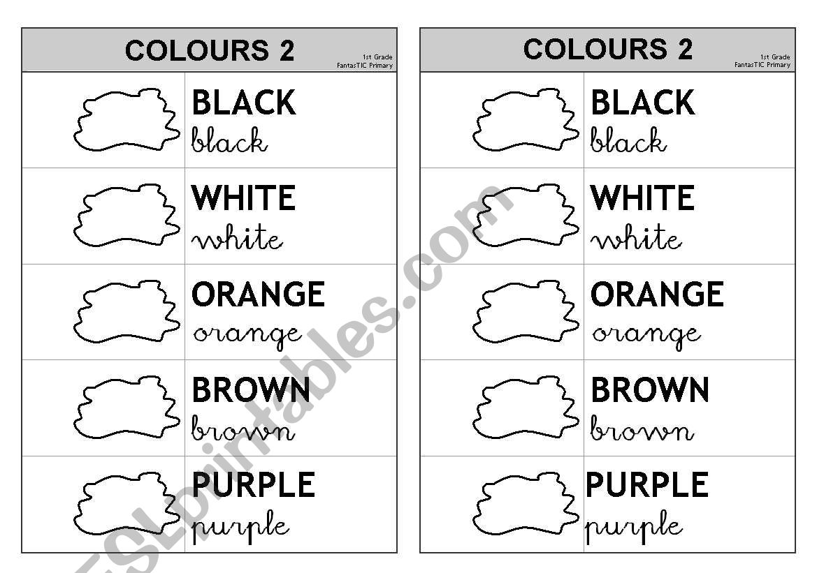 5 First Colours 2/2 (colouring) - Information