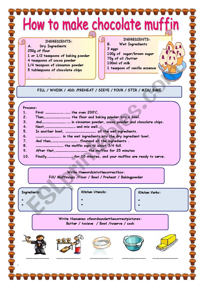 HOW TO MAKE  CHOCOLATE MUFFIN / Recipe