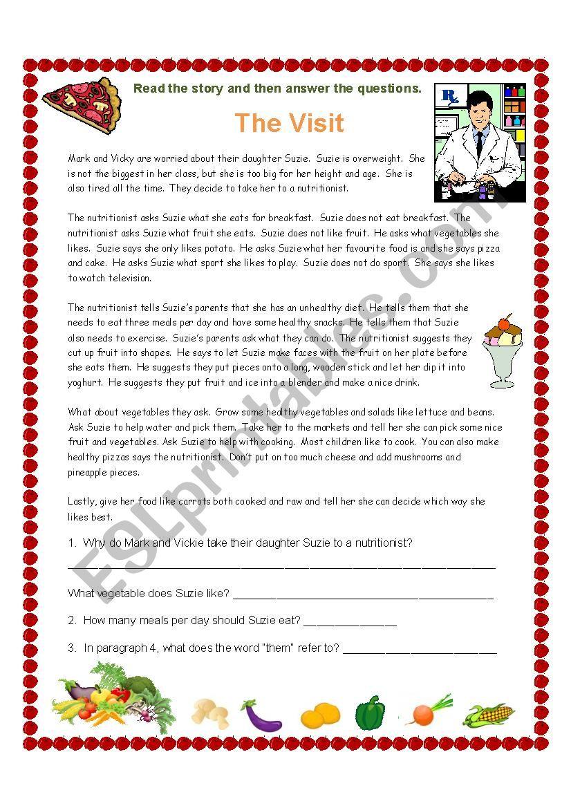 The Nutritionist worksheet