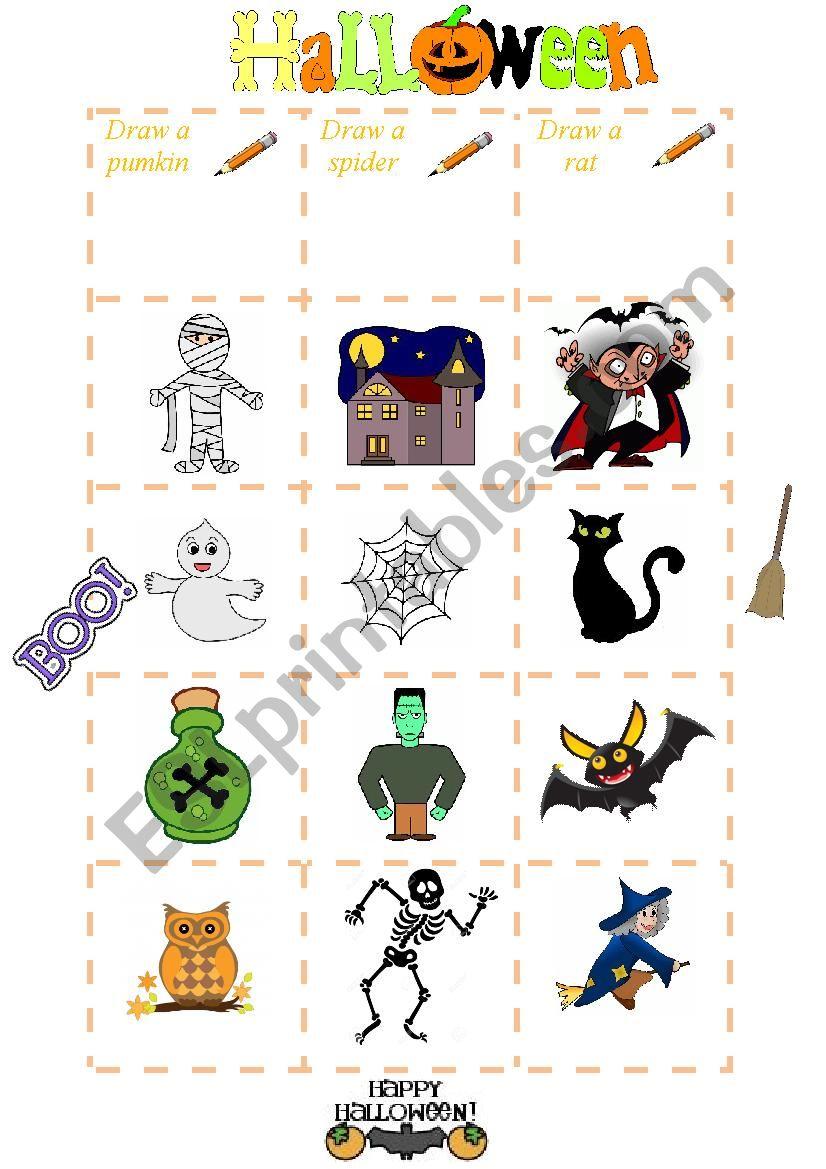 Hallowwen Bingo  worksheet