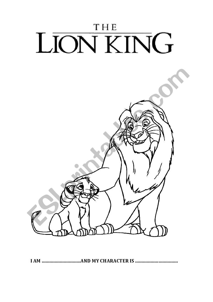 performance of the lion king ESL worksheet by gems86