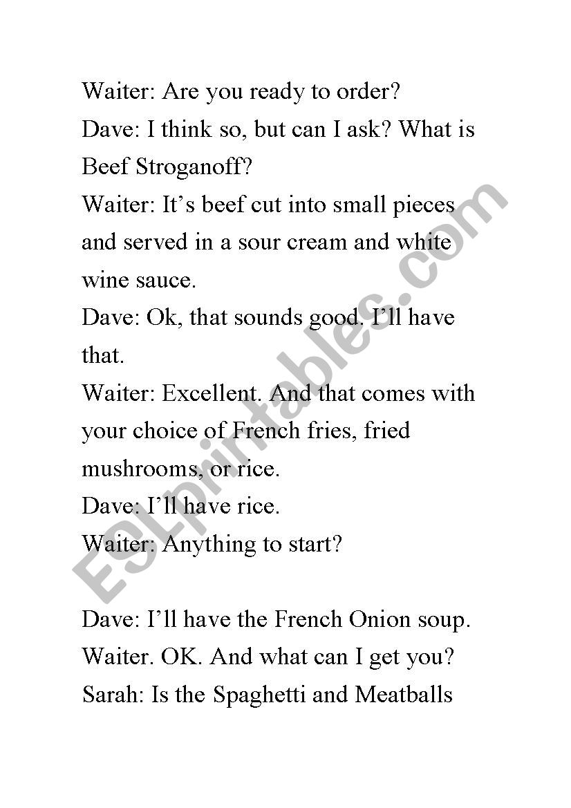 dialogue - ESL worksheet by danielitazanotita