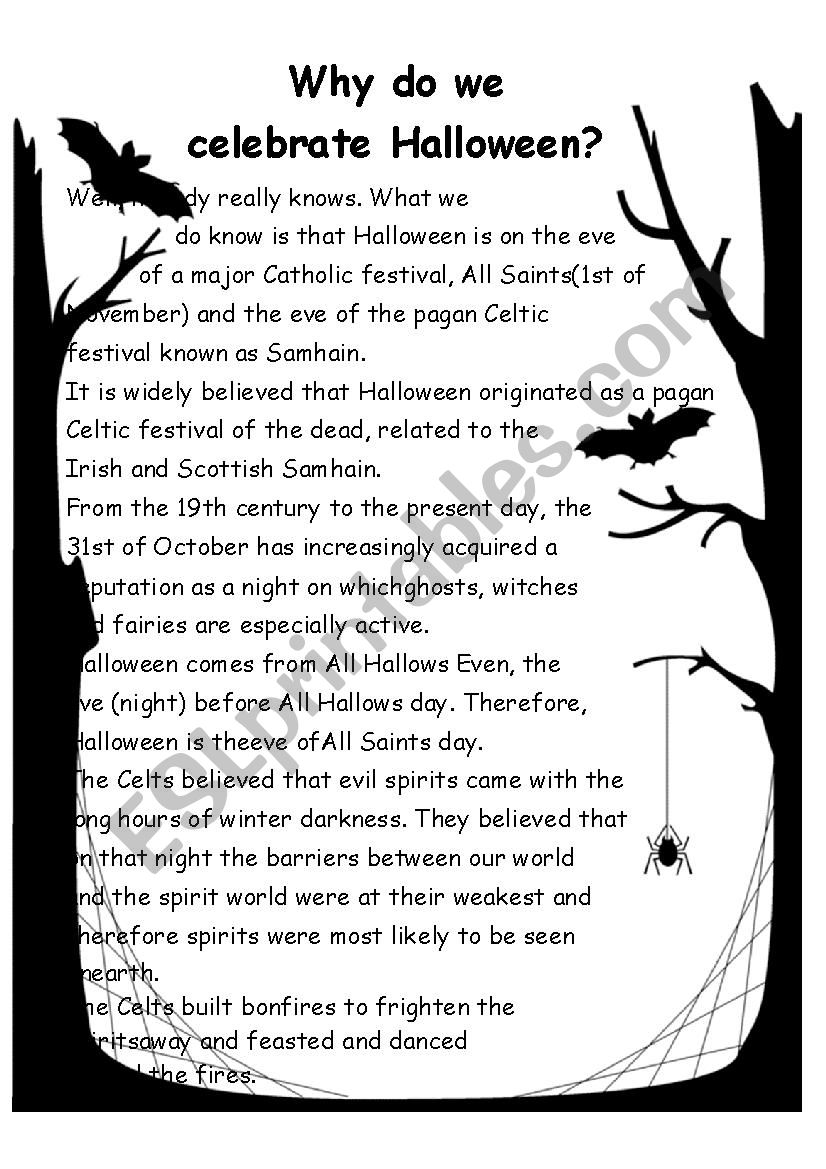 The story of Halloween, dressing up and Jack O´lantern