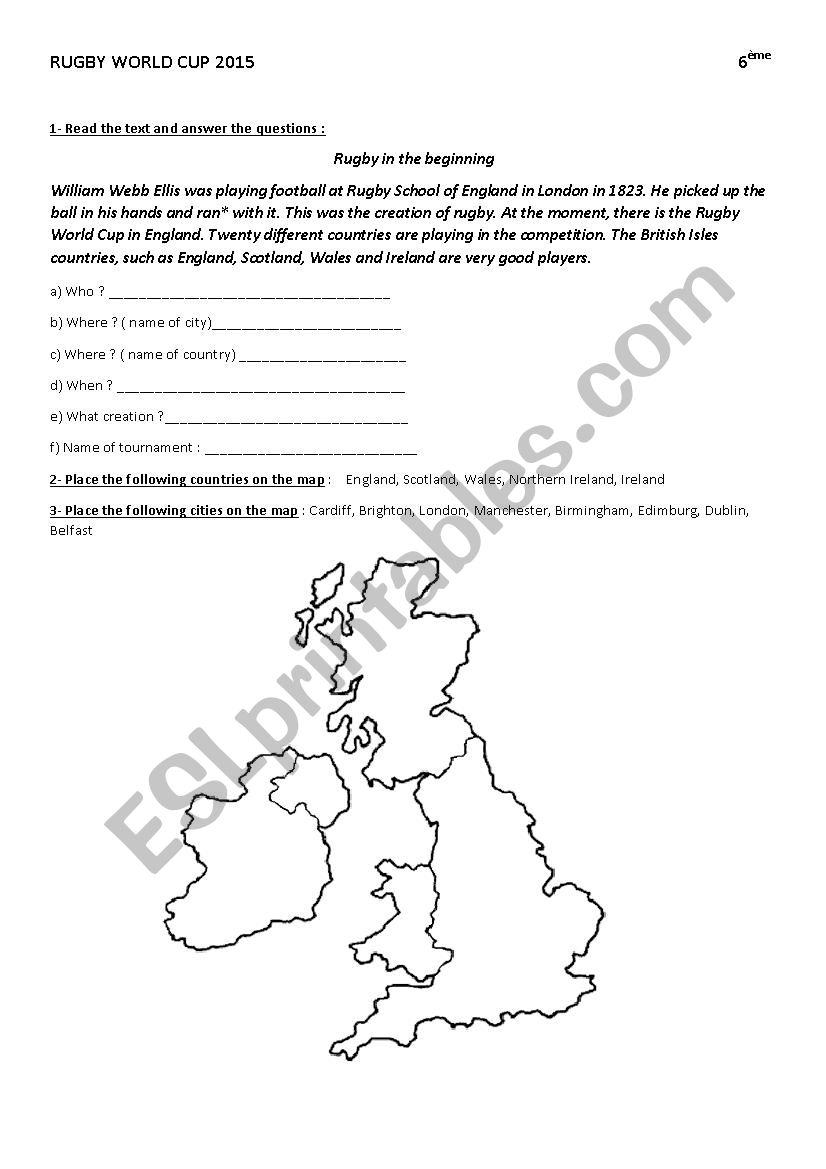 rugby world cup 2015 worksheet