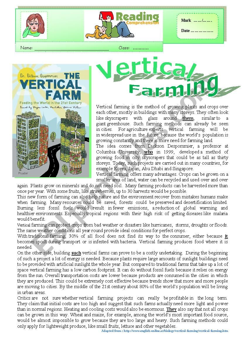 Worksheets Agriculture Worksheets english worksheets vertical farming agriculture of the future reading varied comprehension ex key