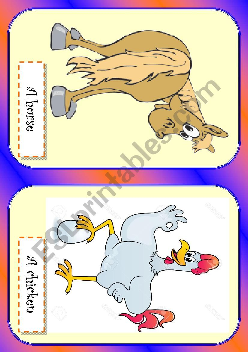 Farm animals 1 worksheet